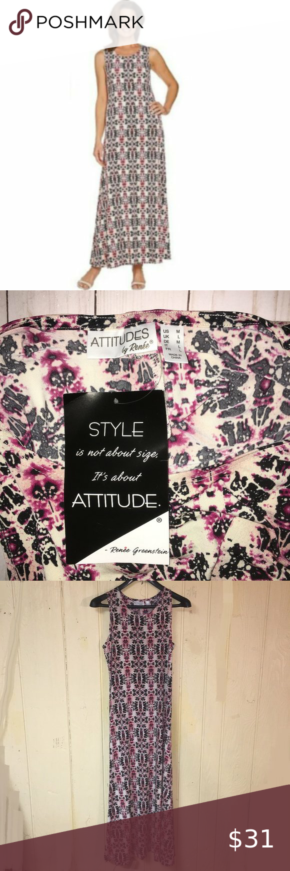 New Qvc Attitudes By Renee Maxi Dress Geometric New With Tags Attitudes By Rene Greenstein Designer Brand Women Maxi Dress Clothes Design Printed Maxi Dress [ 1740 x 580 Pixel ]