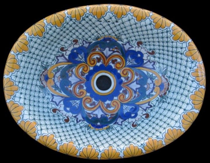 Good Over 30 Designs Of Hand Painted, Double Shelled With Overflow, High Fire  White Clay Talavera Sinks Kept In Stock By Latin Accents