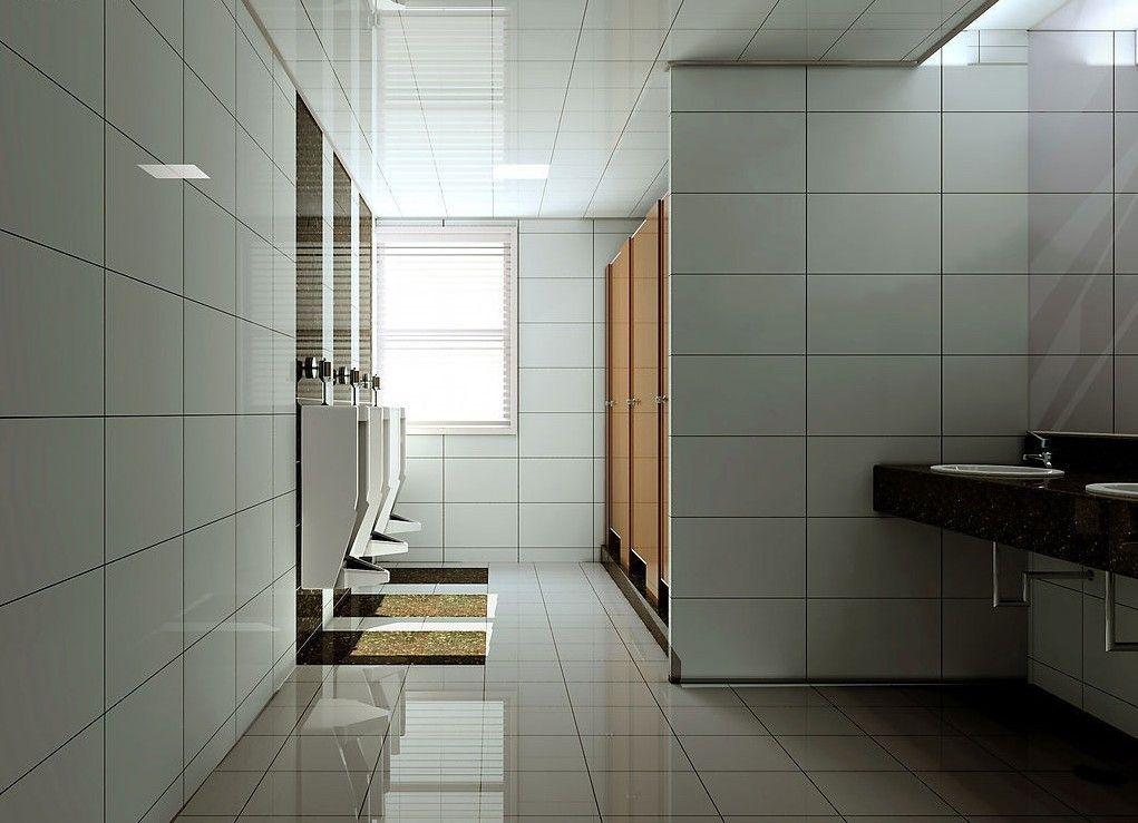 Modern public toilet plan
