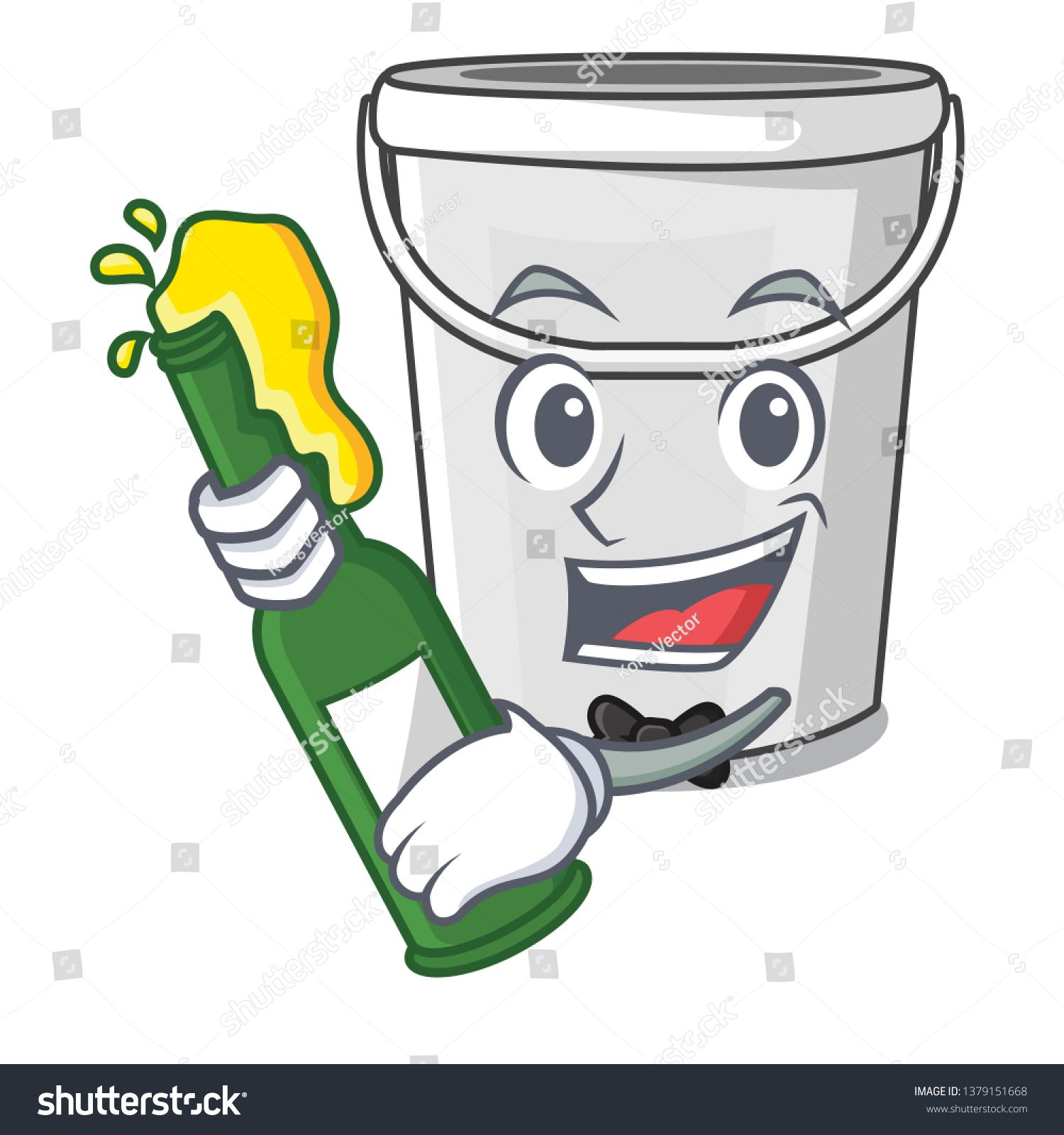 With Beer Plastic Tube Bucket In The Mascot Ad Affiliate Plastic Beer Tube Mascot In 2020 Mascot Photo Art Royalty Free Stock Photos