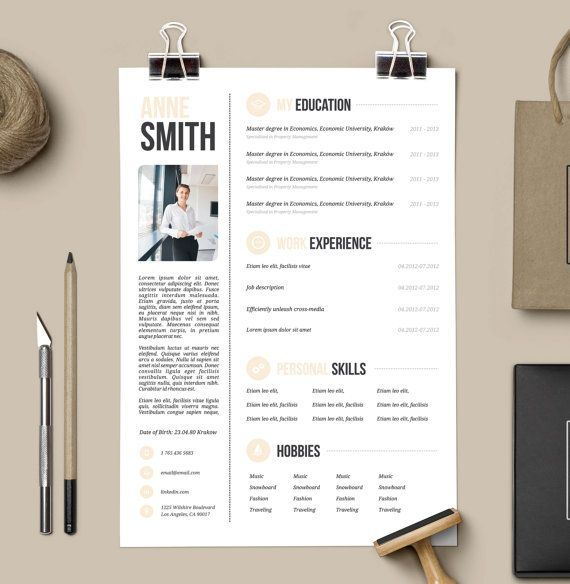 Unique Resume Templates Free Classy Customized Resume Design  Microsoft Word Template  Cover Letter