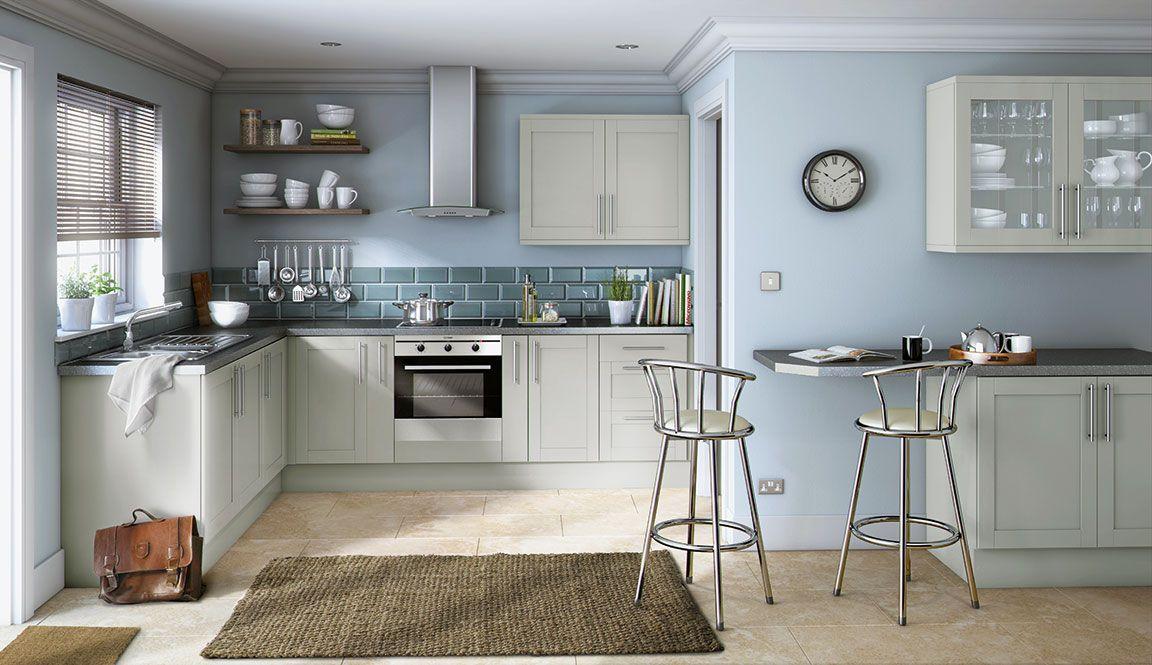 Simply Hygena Amersham Grey Kitchen Интерьер, Дизайн