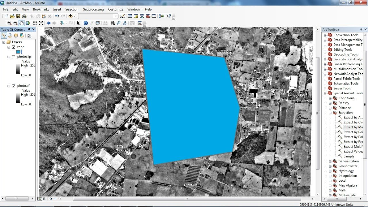 How to clip image or raster by polygon in ArcGIS