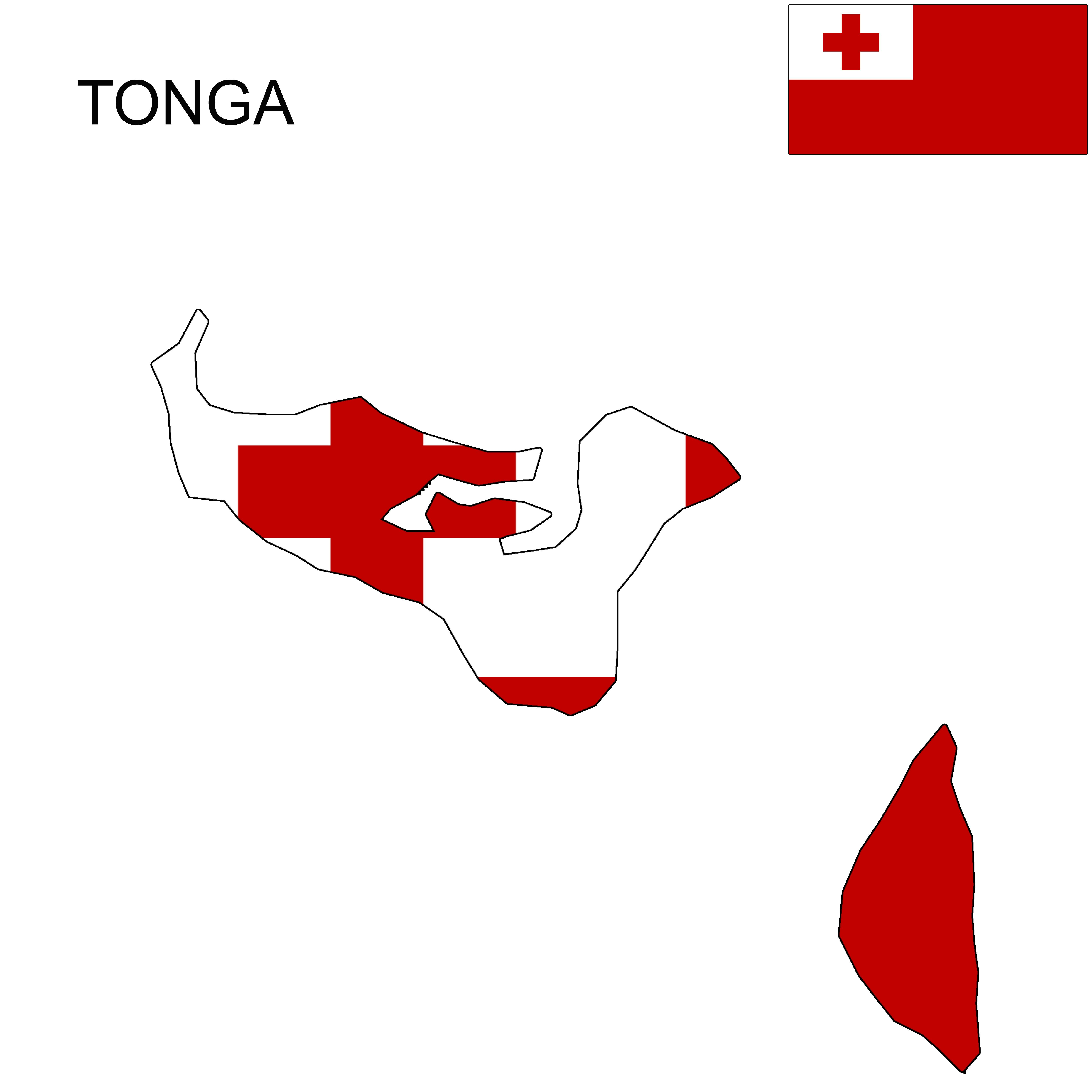Tonga Tonga Flag Map Tonga Flag Flag Tonga
