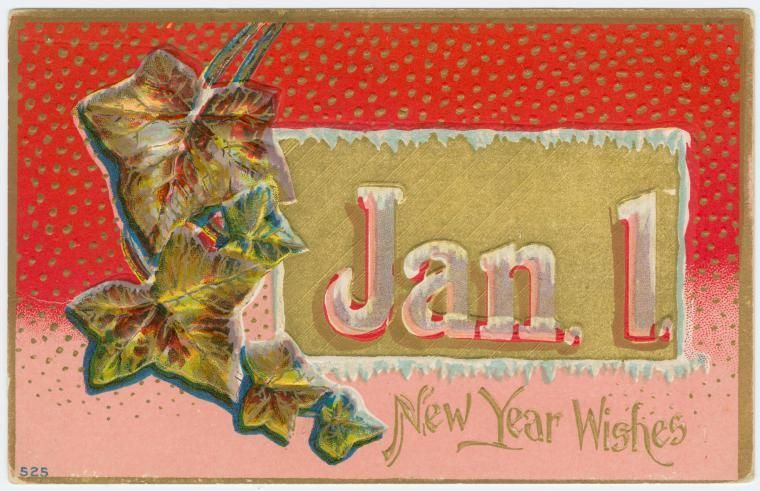 Happy New Year With Vintage Postcards Free Downloads