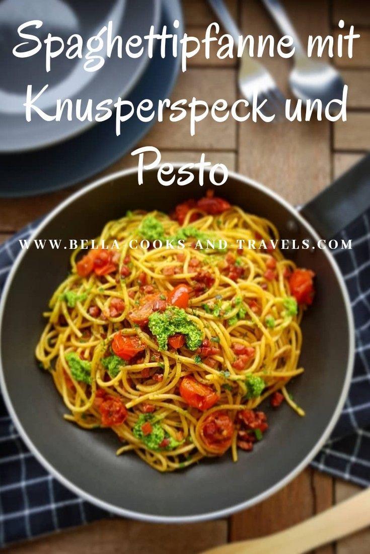 Schnelles Rezept für superleckere Spaghettipfanne!    Bella cooks and travels  Meine Rezeptideen