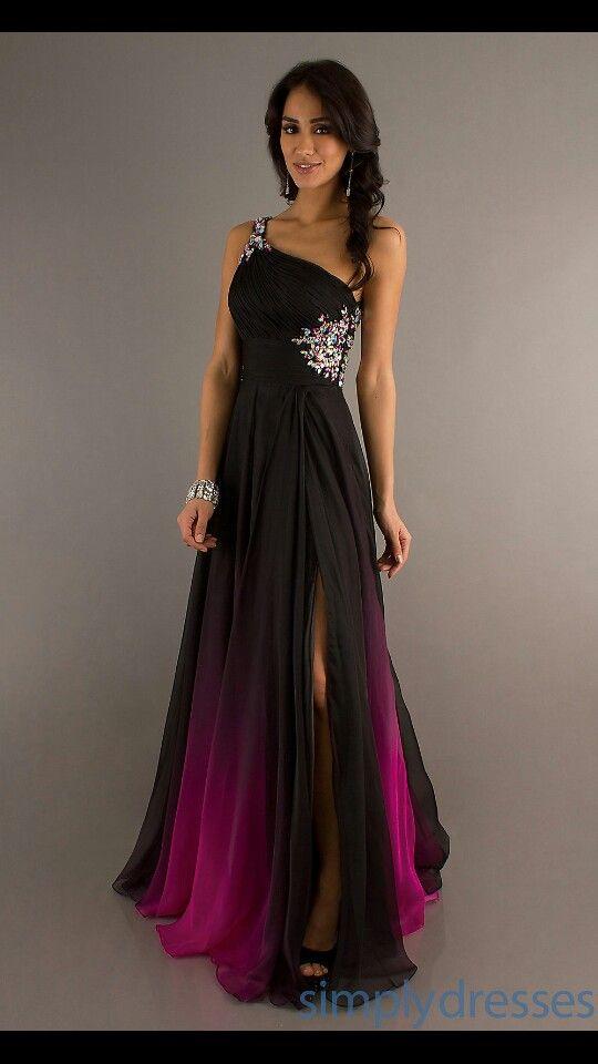 Ombre prom dress | Prom/homecoming ideas | Dark purple ...