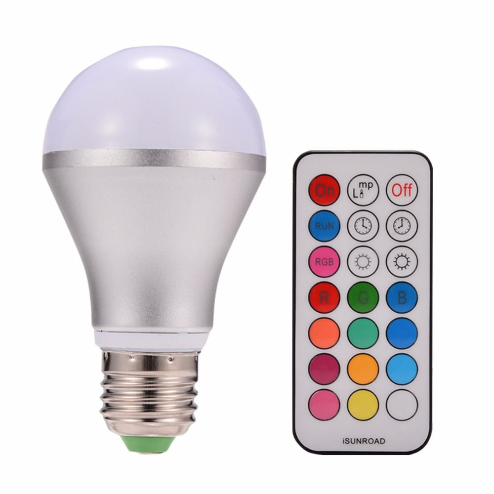 LumiParty New 10W RGBW E27 LED Bulb Light Stage Lamp 12 Colors with ...