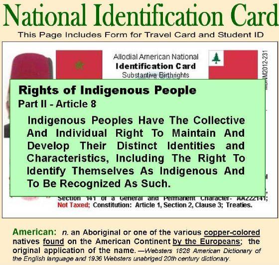 National Identification Card | Native Tongue | Moorish