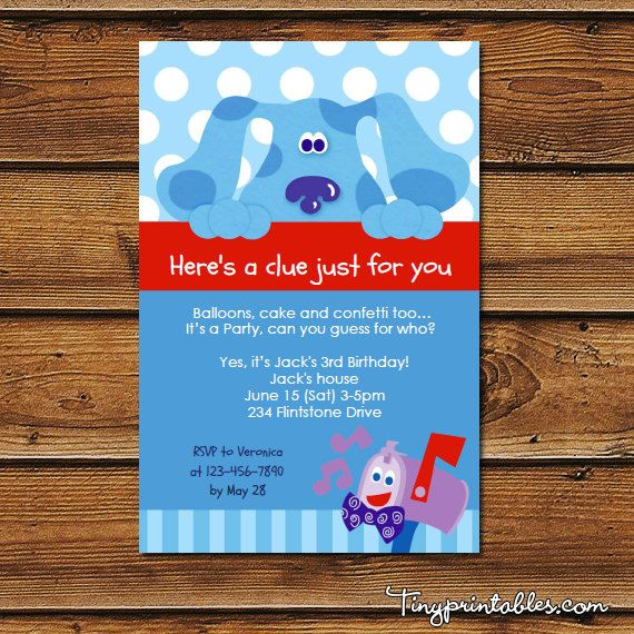 Blues Clues Birthday Party Invites