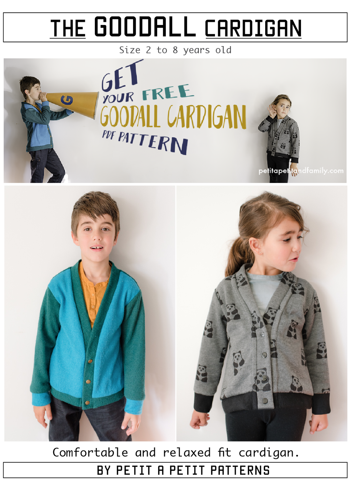 The Goodall Cardigan... FREE pattern//petitapetitandfamily.com | Sew ...
