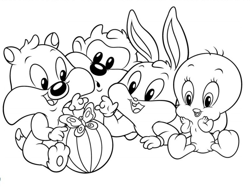 Baby Looney Tunes Coloring Pages To Print With Images Bunny