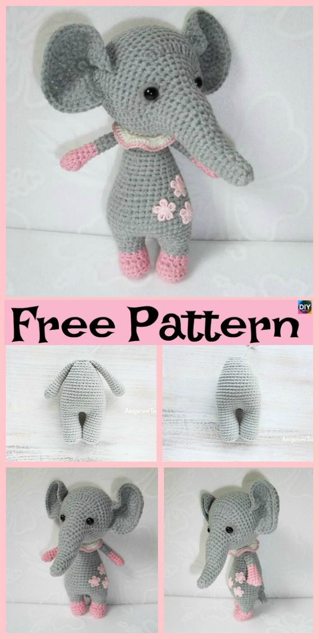 Crochet Baby Elephant Amigurumi - Free Patterns | Amigurumis ...