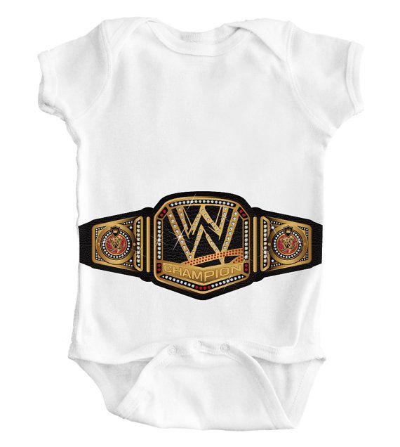 7ac138116 WWE WRESTLING Belt   Baby Romper   Creeper   by WeirdBeardDesigns ...