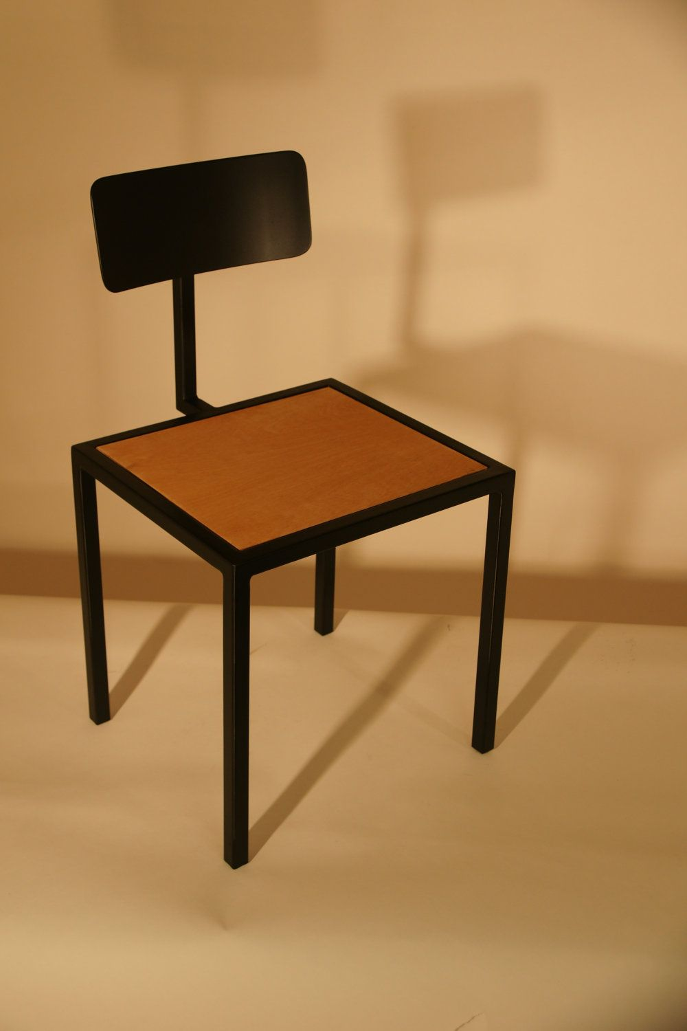 Handmade Steel and Wooden Inlay Chair available from Etsy