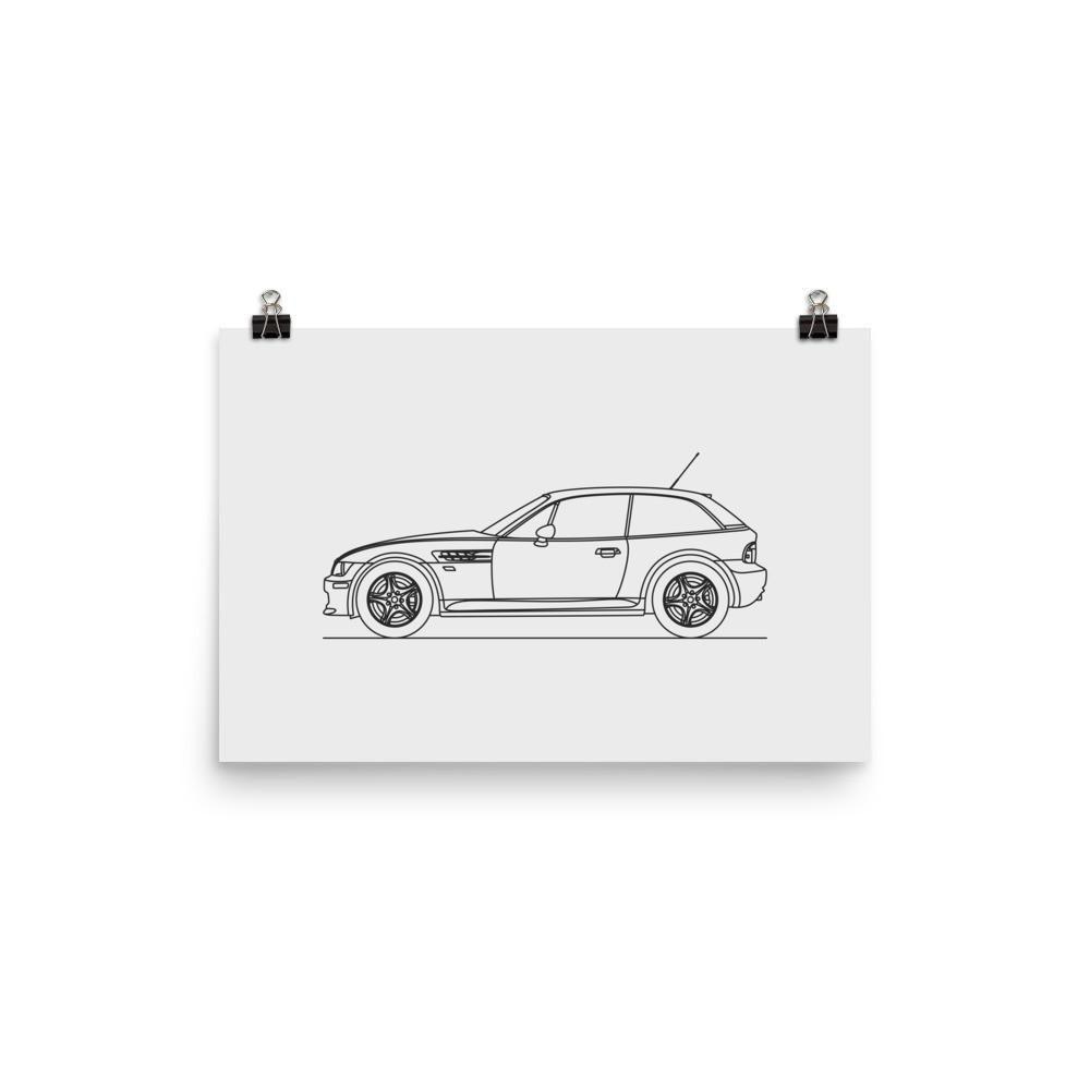 Z3M Coupe Minimal Line Art (photo paper)