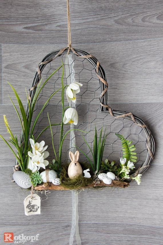 Couronne de porte coeur guirlande porte fois différentes décorations de Pâques printemps Pâques porte couronne décoration de printemps – Blog