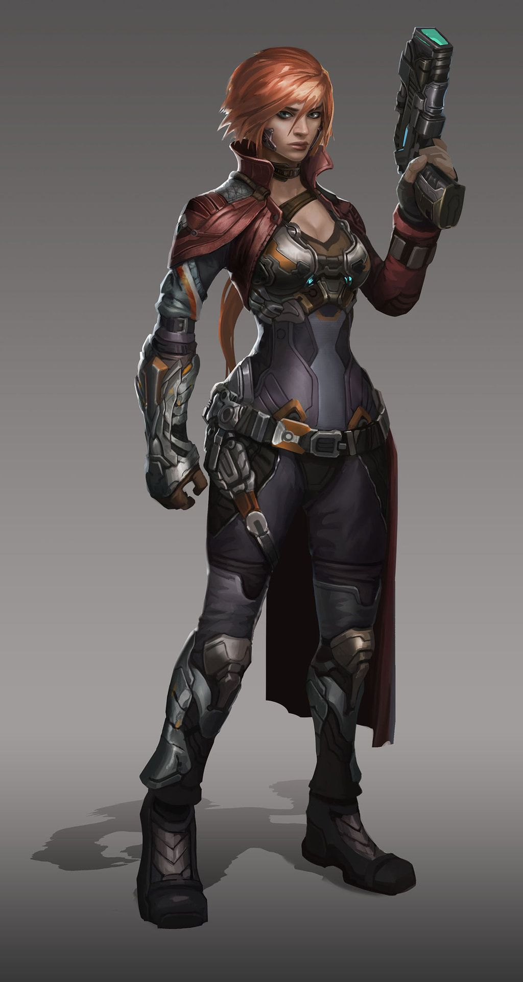 Badass Scifi Gal Cyberpunk Character Sci Fi Characters Sci Fi