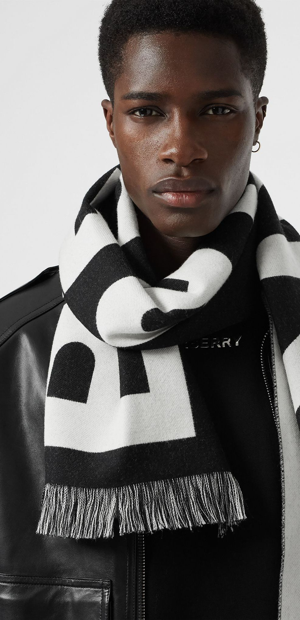 The Burberry footballstyle scarf modernised in
