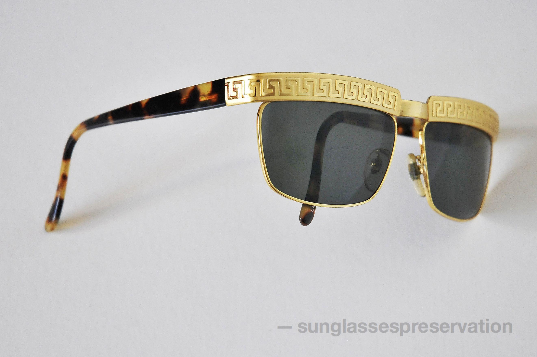 Frame glasses versace - Versace Gold Frame Sunglasses