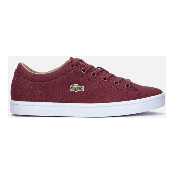 f674081104928b Lacoste Women s Straightset W Canvas Trainers ( 58) ❤ liked on Polyvore  featuring shoes