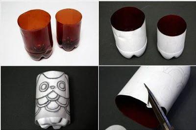 Manualidades-ideas fabulosas para reciclar botellas ~ cositasconmesh