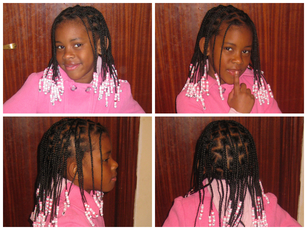 7 Year Old With Beads And Braids Shared By Katia Cute Hairstyles Hair Styles Little Girl Box Braids