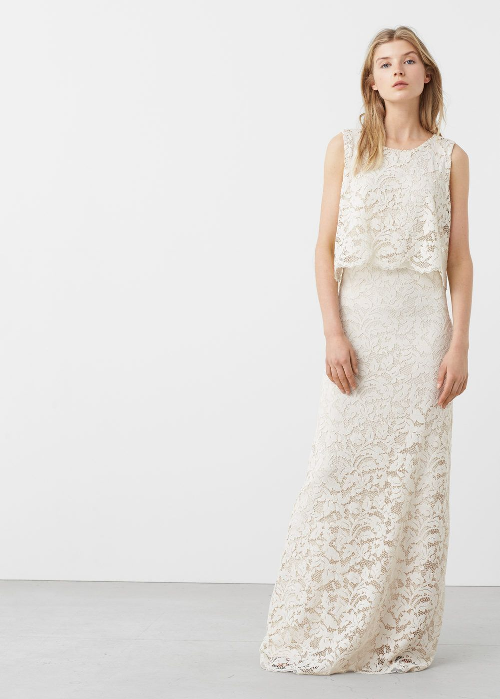 Kleid aus gipürespitze - Damen | Mango, Brautkleid und Kleider