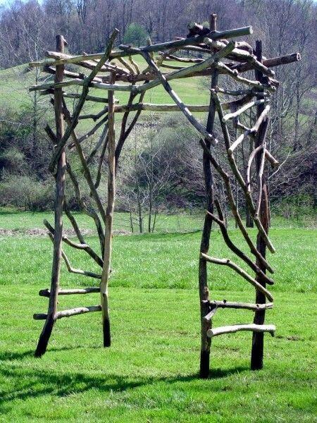 I So Want To Make This And Add A Dark Red Climbing Rose Bush Diy Garten Diy Garden Gartendesign Ideen