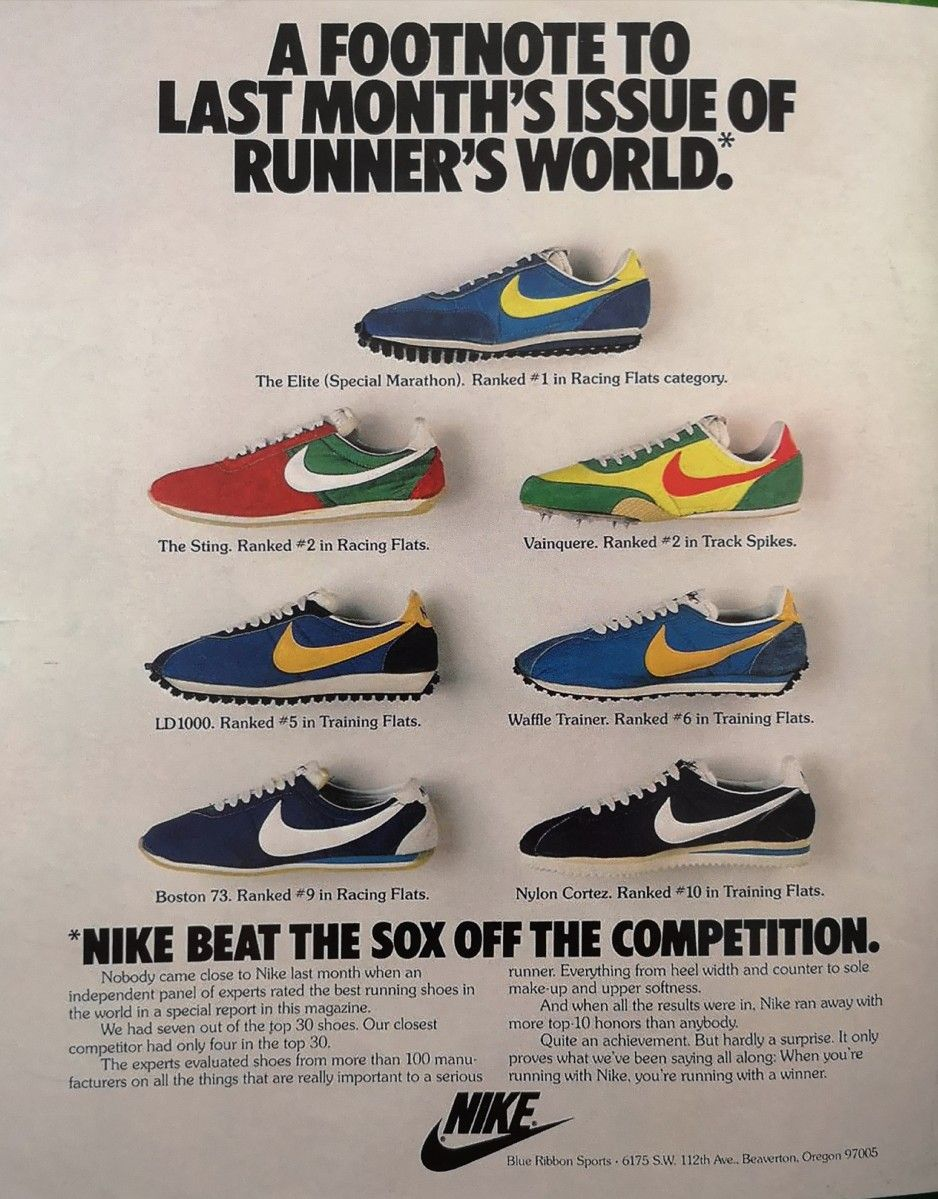 Old Nike Adverts Nike Running Shoes Nike Shoes Ads
