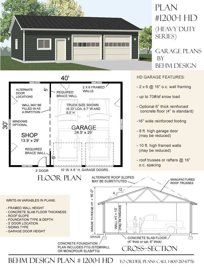 12001hd Garage Garage Shop Plans Garage Plans Garage Design