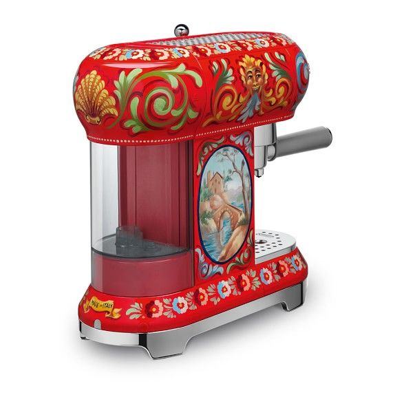 Smeg Dolce & Gabbana Espresso Machine #williamssonoma