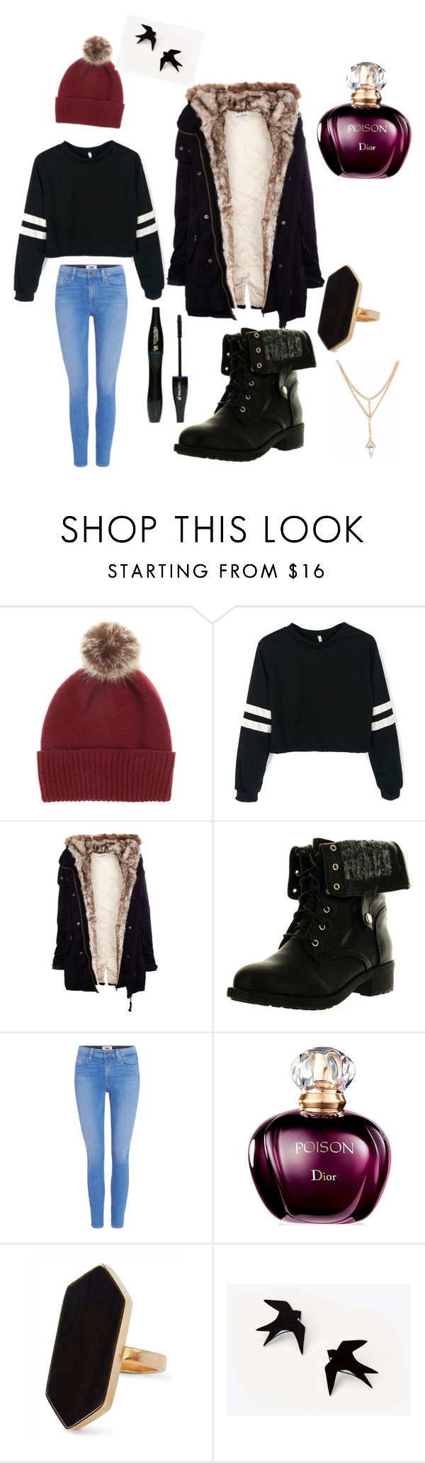 """""""Cozy day"""" by brokenheart019 ❤ liked on Polyvore featuring Helen Moore, Pull&Bear, Refresh, Paige Denim, Lancôme and Jaeger"""