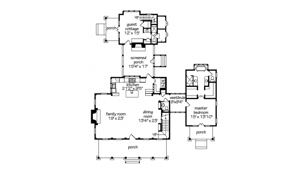 Cottage Of The Year From The Southern Living Hwbdo55448 Cottage From Builderhouseplans Com Cottage House Designs House Plans Cottage Floor Plans