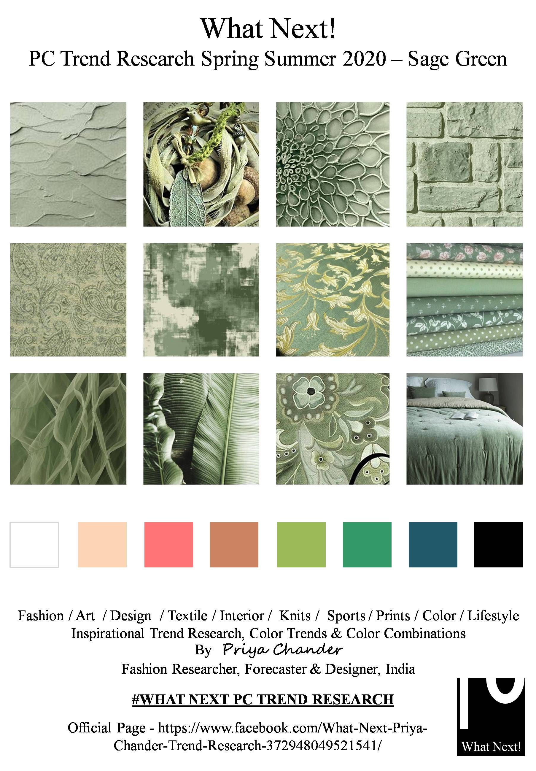 SAGE GREEN 2020 | SS20 | Fashion forecasting, Color trends ...