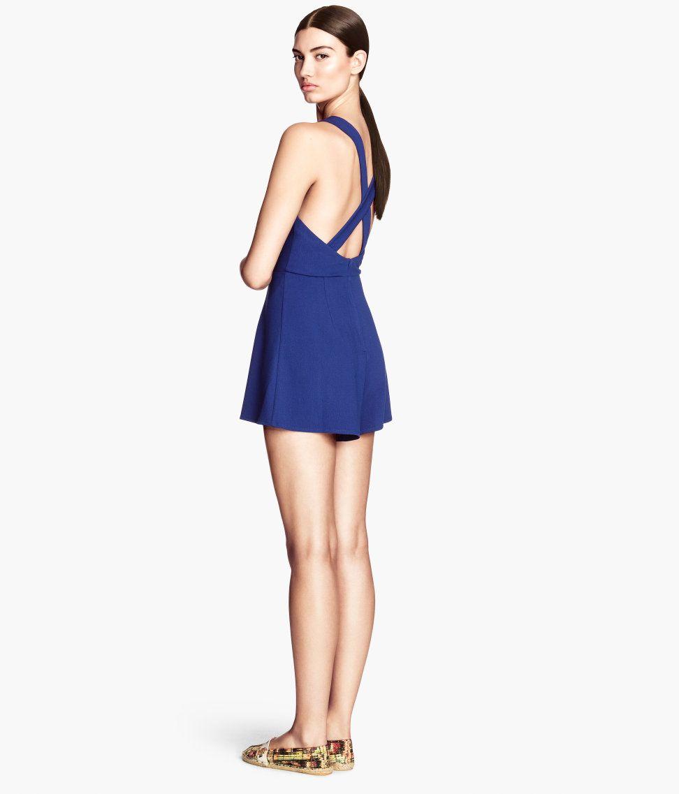 Cornflower blue jumpsuit. #HMTrend