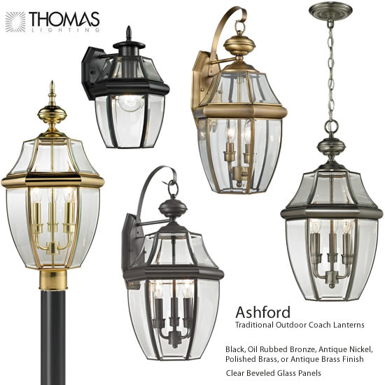 Thomas Lighting Ashford Traditional Outdoor Coach Lanterns Traditional Outdoor Lighting Deep Discount Lighting In 2020 Outdoor Lighting Copper Lantern Lighting