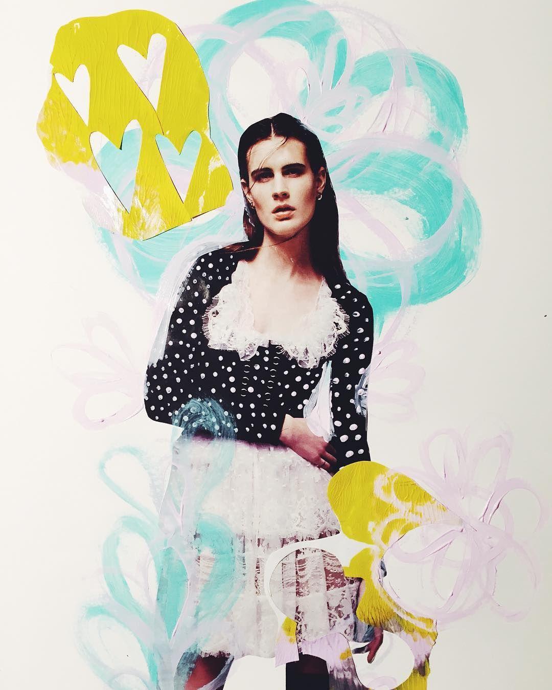 Fashion Illustration & collage by Agatha O'Neill