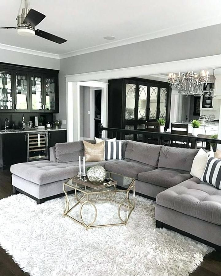 Rug Size For Living Room With Sectional Modern Gray Awesome Placement Pictures Idea