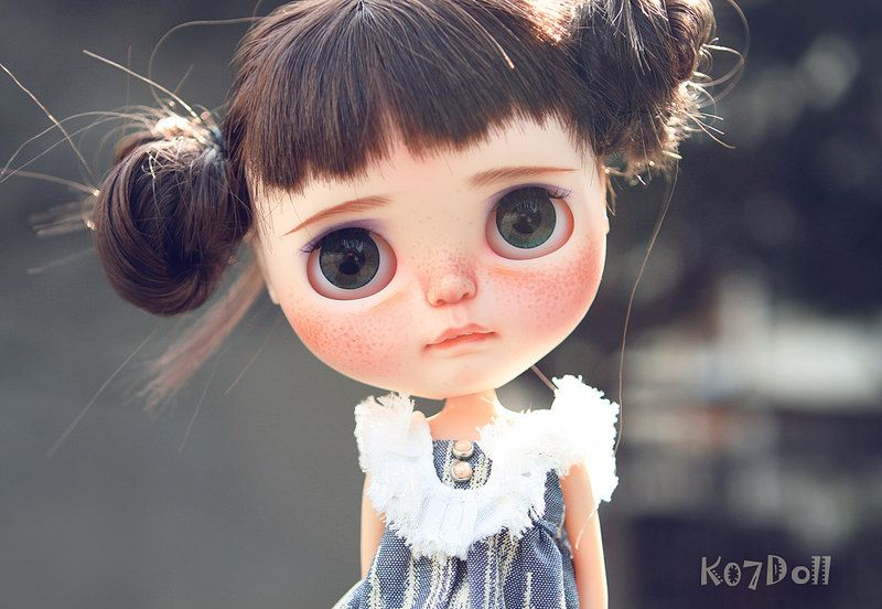 So thankful for Tiina trade with me,I love her so much~wonderfull OOAK Blythe doll by Tiina for Ken Z
