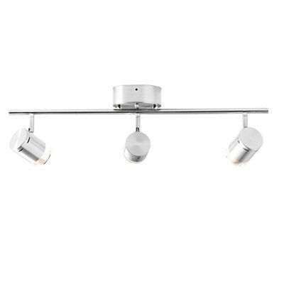 Style selections leyden 3 light brushed nickel dimmable integrated style selections leyden 3 light brushed nickel dimmable integrated led fixed track light kit mozeypictures Image collections