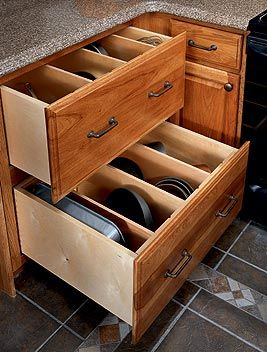 Vertical Baking Pan Storage With Images Pan Storage New