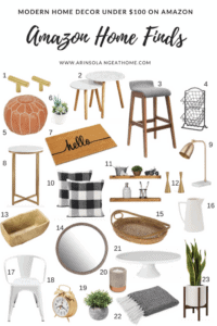 Affordable Amazon Home decor for any area of your house. All of these Amazon Home Finds are under $100! #amazon #amazonhomedecor #amazonhome