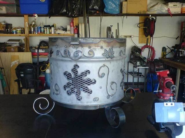 Project ideas for 55 gallon barrels | Fire pit, Cool fire ...
