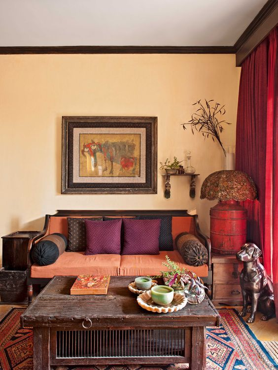 Indian style living room decor also interior design ideas for the house pinterest rh