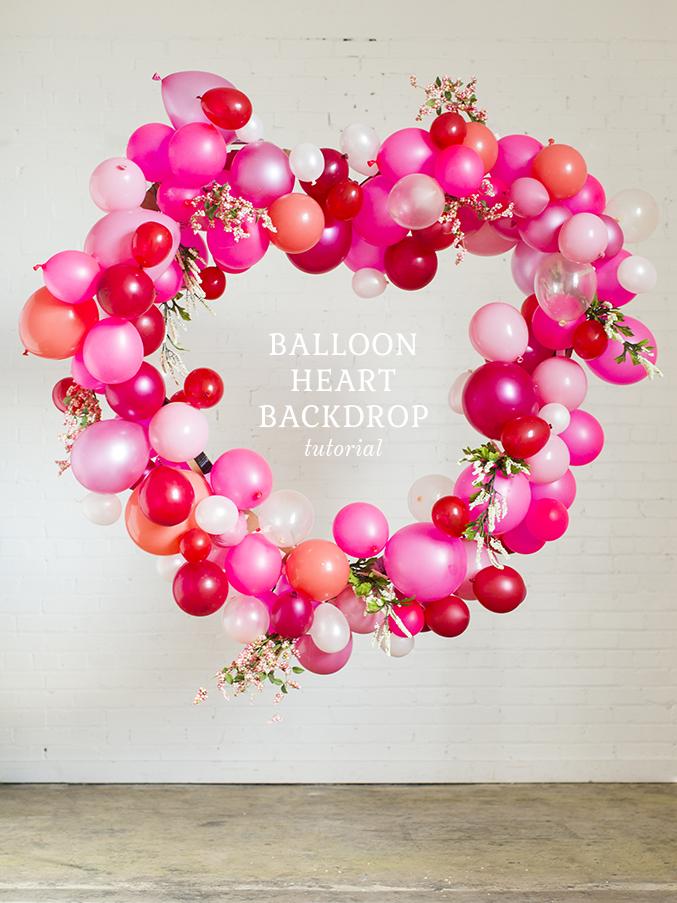balloon heart backdrop Valentineu0027s Day balloon heart