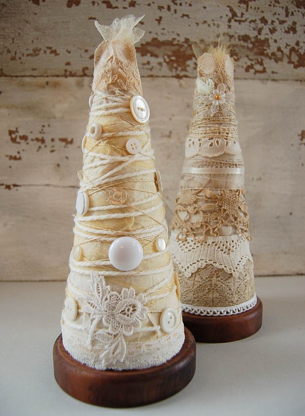 Shabby chic and vintage find I adore for  my xmas  home