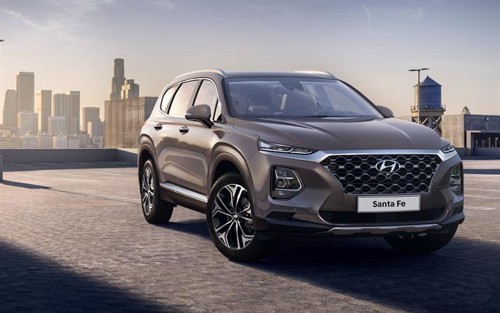 Download wallpapers Hyundai Santa Fe, 2019, 4k, front view, 4 ...