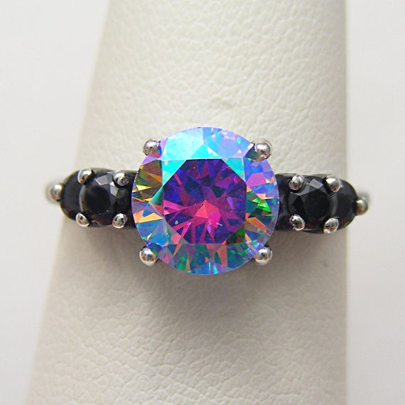 Gothic Lolita Goth Jewelry Goth Ring Cosmic Muse Mystic Fire Ice