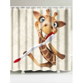 Giraffe Pattern Shower Curtain And Rug Giraffe Pattern